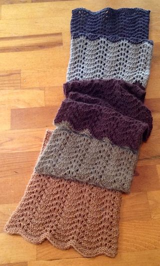 Brown leftovers scarf