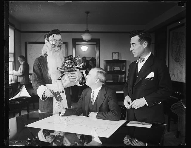 Santa receives pilot's license from ASComm1927