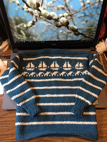 Pirate ship sweater