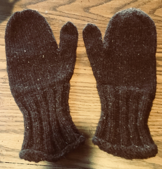 Brown mittens