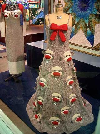 Sock monkey gown 2