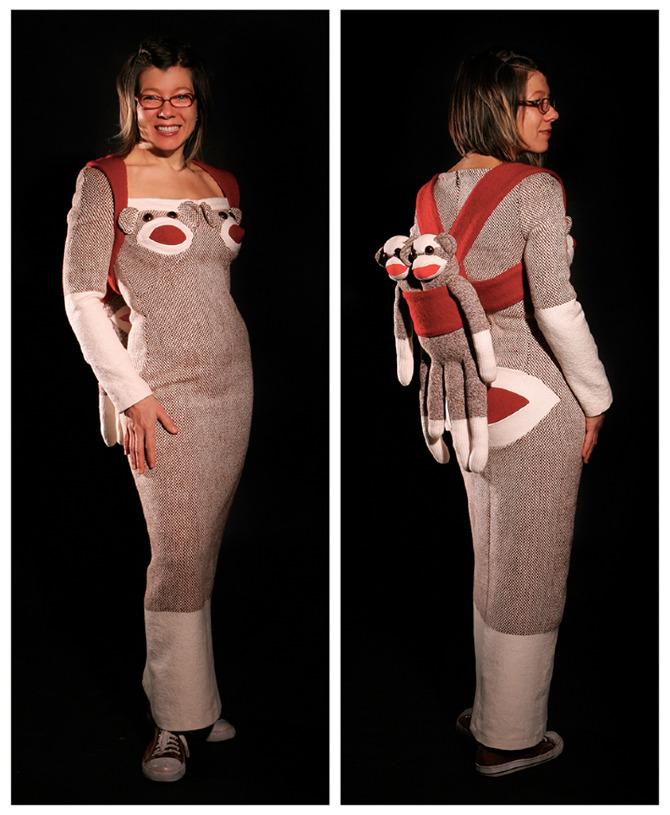 Sock Monkey Gown 1