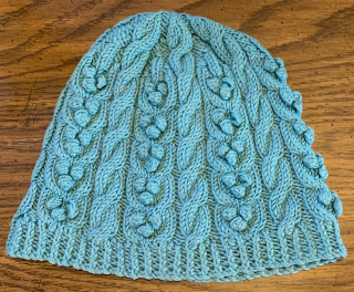 Cable and Bobble beanie